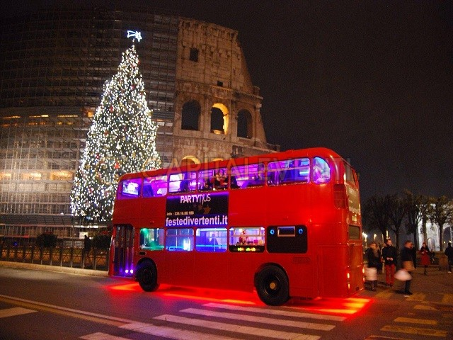 Festa in bus Inglese Roma 1