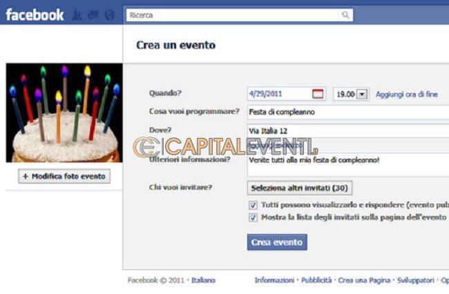 Creare un evento su Facebook ecco una piccola guida