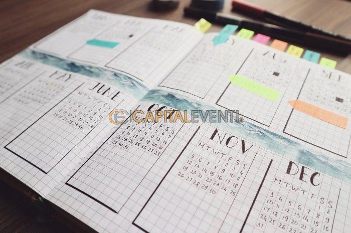 Bullet journal per l'organizzazione di eventi