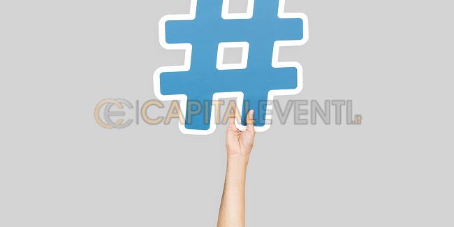 Hashtag del proprio evento